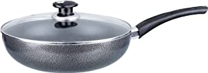 Brentwood Non-Stick Aluminum Wok with Lid, 9-1 2-Inch, Gray by Brentwood Appliances