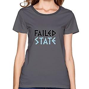 Printing Machine Failed State Graphic Lady Shirts 100% Cotton