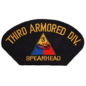 """U.S. Army 3rd Armored Division Hat Patch 2 3/4""""x5 1/4"""""""