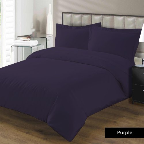 "Royal Hotel 800 Tc 4 Pc Cotton Sheet Set Twin Xl Size Solid Purple Fits Mattress Upto 21"" Deep By Jay'S Home Goods"