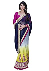 coolwomen women's jacquard embroidered free size fancy saree-cw_NMN3A1704_multicolor_free size
