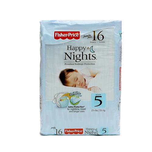 Fisher Price Overnight Diapers - Size 5 - 16 ct - 1