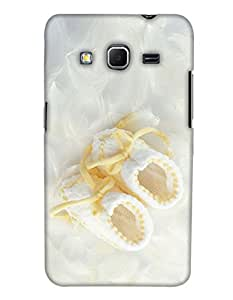 PrintHaat Polycarbonate Designer Back Case Cover for Samsung Galaxy Core Prime :: Samsung Galaxy Core Prime G360 :: Samsung Galaxy Core Prime Value Edition G361 :: Samsung Galaxy Win 2 Duos TV G360BT :: Samsung Galaxy Core Prime Duos (Beautiful white cloth shoes on silk satin with yellow laces)