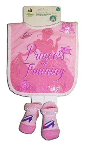 Disney Princess Infant Pink Bib and Bootie Set [5011]