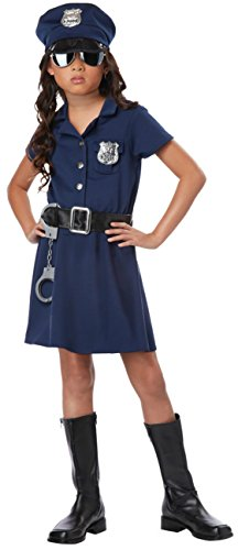 Girls Police Officer Kids Child Fancy Dress Party Halloween Costume