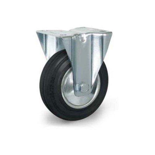 Bockrolle 80 mm Vollgummi Stahlfelge