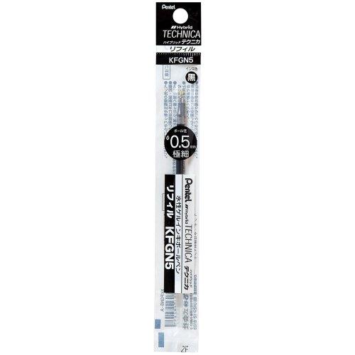 Pentel stylo ? bille hybride KFGN5 0.5mm noir [10 ensembles] XKFGN5-A (japon importation)