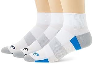 Buy Asics Socks Intensity Quarter White Asst. 3pairs by ASICS
