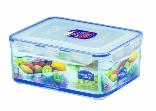 Lock & Lock Rectangular Food Container, Short, 22.9-Cup, 185-Fluid Ounces