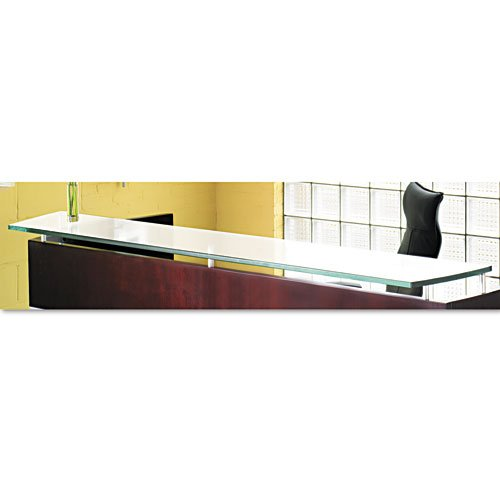 "Mayline Products - Mayline - Napoli Veneer Glass Reception Counter, 86-1/2w x 15 -1/4d, Frosted - Sold As 1 Each - Top, End Panels and Counter sold and shipped separately-ORDER ALL THREE. - Combines clean, modern lines with a wide selection of storage options. - Frosted finish. - Thick 3/4"" tempered glass. -"
