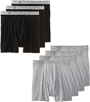 Fruit of the Loom Men's  boxer brief, Black/Grey, Small(Pack of 7)