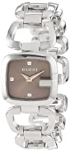 Gucci Womens YA125503 G-Gucci Small Diamond Brown Dial Steel