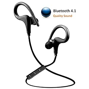 bluetooth earbuds wireless stereo 4 1 headphones best headset lig. Black Bedroom Furniture Sets. Home Design Ideas