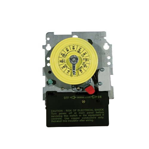 Intermatic T104M201 24-Hour Mechanical Timer with Heat Protection DPST
