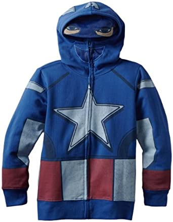 Freeze Big Boys' Captain America Hoodie, Royal, Large
