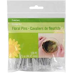 Floracraft Floral Pins, 1.75-Inch, 100 Per Package