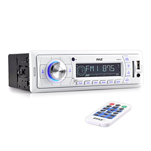 Pyle PLMR18 Stereo Radio Headunit Receiver, Aux (3.5mm) MP3 Input, USB Flash & SD Card Readers, Remote Control, Single DIN (Hummer H3 Head Unit compare prices)