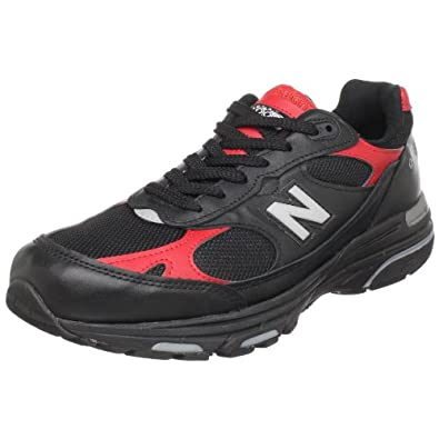 New Balance Men's MR993 Running Shoe,Black/Red,11 D US