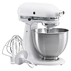Kitchenaid K45SSWH Classic Series Stand Mixer-WHT CLASSIC STND MIXER