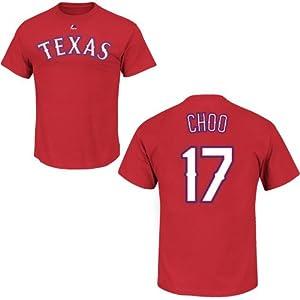 Shin-Soo Choo Texas Rangers Red Name & Number Player T-Shirt Jersey