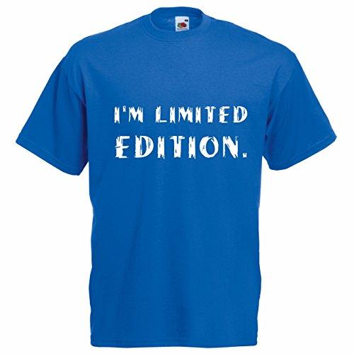 T-shirt Uomo I'm Limited Edition - Maglietta cool divertente 100% cotone LaMAGLIERIA,L,Blu