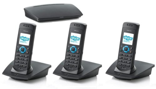 Triple (Three Handsets) RTX Dualphone 3088 PSTN / Skype (NO PC) Dual DECT Phone
