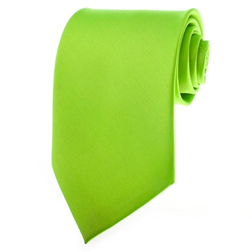 Honeystore Solid Ties Multiful Color Formal Necktie Neon Green (Neon Color Neck Ties compare prices)