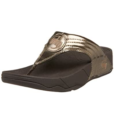 FitFlop Women's Walkstar 3 Metallic Sandal Sandal,Bronze,11 M US