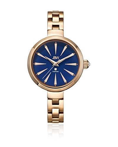 JBW Reloj con movimiento japonés Woman Emerald Metal Dorado 34 mm