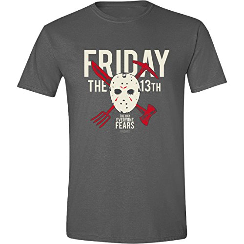 Friday The 13th Crossing Weapons T-Shirt anthracite