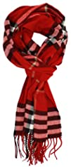 LibbySue-Classic Cashmere Feel Winter Scarf in Rich Plaids
