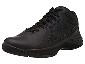 Nike Men's The Overplay VIII Black/Black/Anthracite Basketball Shoe 10.5 Men US