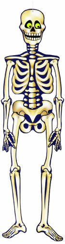"35"" Hanging Jointed Skeleton Halloween Decoration - 1"