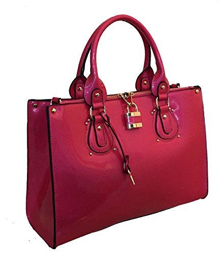 MyLUX Fashion Designer Women Handbag Purse k64023l (83069rose)