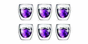 Bodum Pavina 8-Ounce Double Wall Thermo Glass, Set of 6