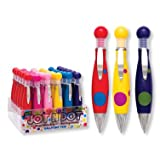 Jot N Dot WIDE GRIP POLKA DOT Pens 36 Pc w/ Display Wholesale
