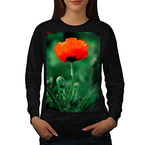 red-beautiful-flower-nature-women-new-black-xl-sweatshirt-wellcoda