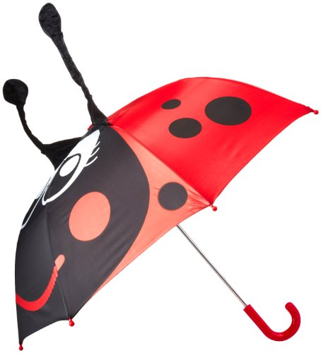 Western Chief Little Girls' Ladybug Umbrella, Red, One Size front-775646