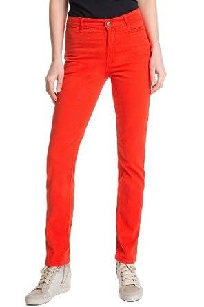 ESPRIT Collection Damen Hose Normaler Bund Q23271, Gr. 40/30 (L), Rot (625 Fire Red)