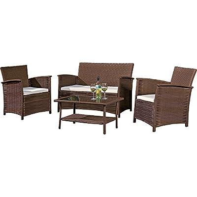 St Kitts Rattan Furniture Set Garden Furniture Patio Conservatory Sofa Set.