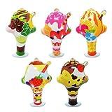 【ビニール玩具】 パフェコレクション (20個入) 【パンチボール】  / お楽しみグッズ(紙風船)付きセット [おもちゃ&ホビー]