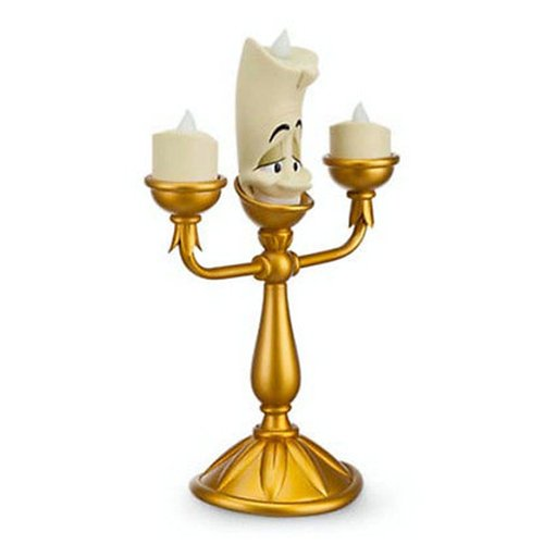 Disney Decorative Beauty And The Beast Lumiere Light Up Candelabra Figure New