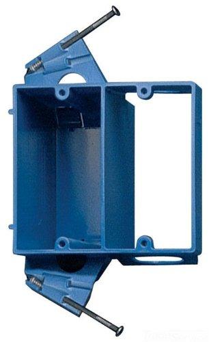 Carlon Sc200Dv Dual Voltage Outlet Box/Bracket, 2 Gang, 4.04-Inch Length By 3.69-Inch Width By 3.67-Inch Depth, Blue