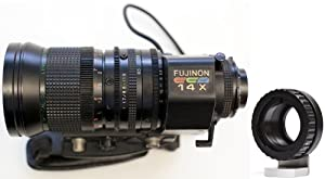 Fujinon 9-126mm F/1.7 B4 Video Zoom Lens for Panasonic GH1, GH2, GH3, AF100, Olympus E-P1, E-P2, E-P3, BlackMagic Design Cinema with Deluxe B4 to Micro 4/3 Adapter