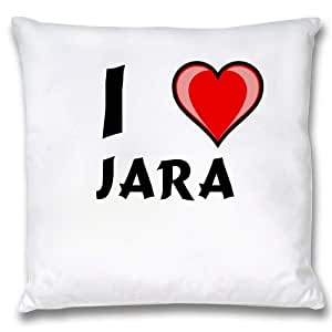 Amazon.com: White Cushion Cover with I Love Jara (first name/surname