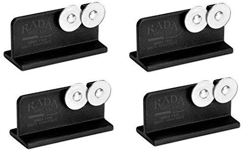 Rada Cutlery Quick Edge Knife Sharpener With Hardened Steel Wheels (Pack Of 4 - R119/4)
