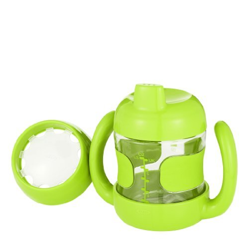 Oxo Tot Sippy Cup With Bonus Training Lid Set, Green, 7 Ounce Color: Green Newborn, Kid, Child, Childern, Infant, Baby back-529982