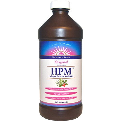 Heritage Products, HPM, Hydrogen Peroxide Mouthwash, Original, 16 fl oz (480 ml) - 2pc (Hydrogen Peroxide Mouth Wash compare prices)