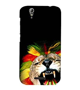 animated glowing tiger face 3D Hard Polycarbonate Designer Back Case Cover for Acer Liquid Z630::Acer Liquid Z630S
