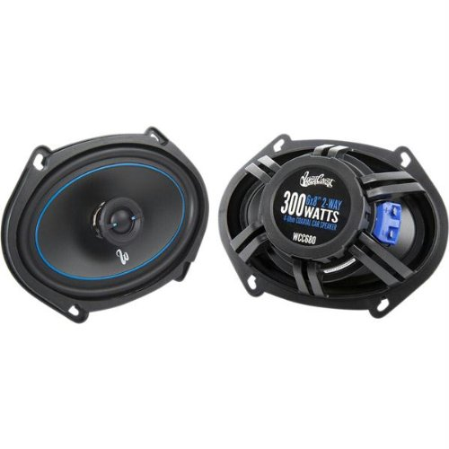 "West Coast Customs 6"" X 8"" / 5"" X7"" 2-Way Convertible Component/Coaxial Car Speakers System (Wcc-680)"